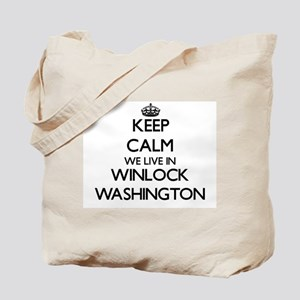 Keep calm we live in Winlock Washington Tote Bag