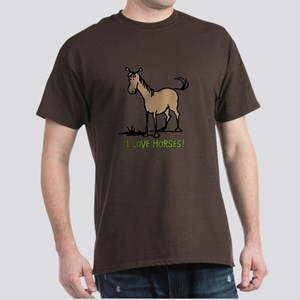 I love horses cute Dark T-Shirt