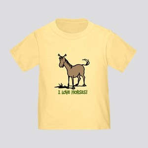I love horses cute Toddler T-Shirt