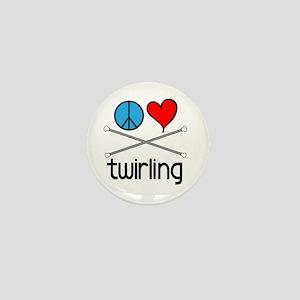 Peace Love Twirling Mini Button