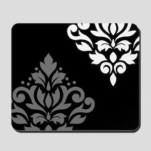 Scroll Damask Art I BWG Mousepad