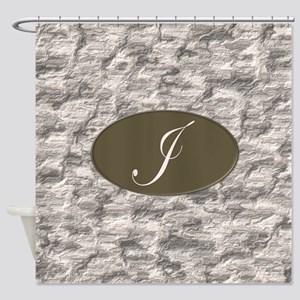 Monogram J Shower Curtain
