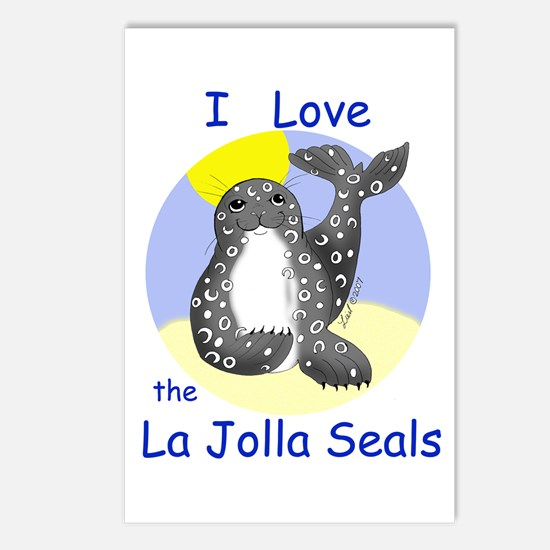 La Jolla Seals Postcards (Package of 8)
