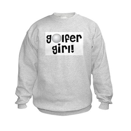 Golfer Girl Kids Sweatshirt