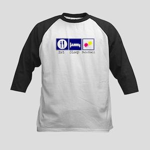 Eat, Sleep, Paintball Kids Baseball Jersey