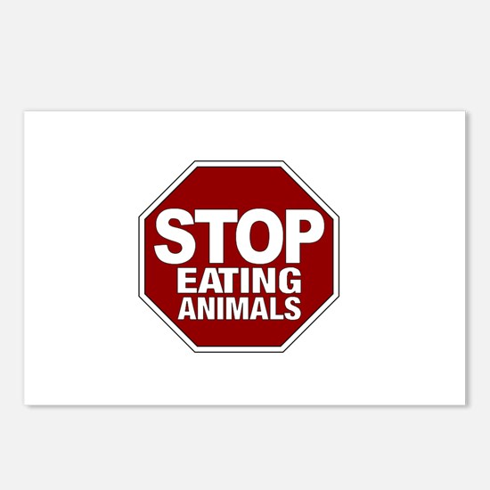 Stop Eating Animals Postcards (Package of 8)