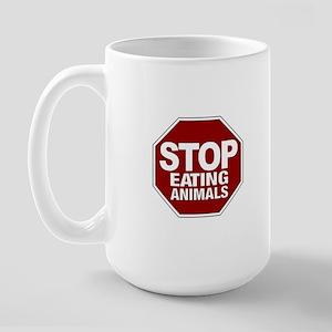 Stop Eating Animals Large Mug