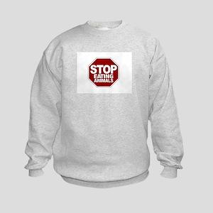 Stop Eating Animals Kids Sweatshirt