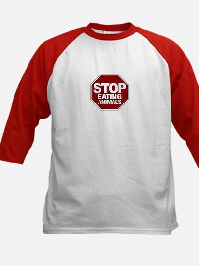 Stop Eating Animals Kids Baseball Jersey