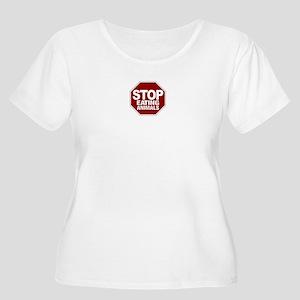 Stop Eating Animals Women's Plus Size Scoop Neck T