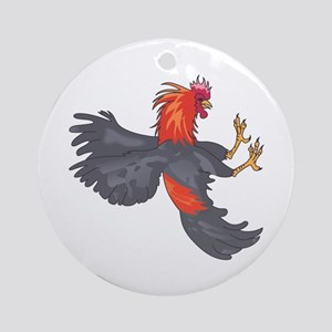 FIGHTING COCK Ornament (Round)