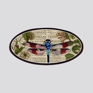 vintage botanical dragonfly Patches