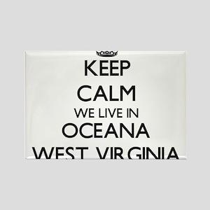 Keep calm we live in Oceana West Virginia Magnets