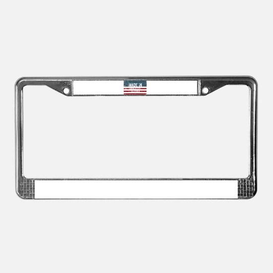Cute Douglas License Plate Frame