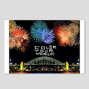 Fireworks Color Your World! Postcards (Pkg. of 8)