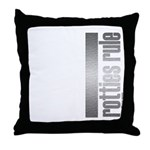 Rotties Rule Rottweilers Throw Pillow
