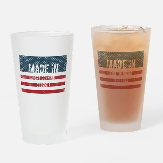 Made in Fort Benning, Georgia Drinking Glass