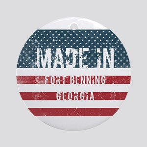 Made in Fort Benning, Georgia Round Ornament
