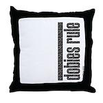 Dobies Rule Doberman Pinscher Throw Pillow