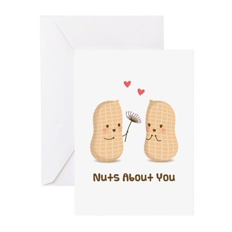 Cute Peanuts Nuts About You Love Humor Greeting Ca
