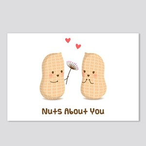 Cute Peanuts Nuts About You Love Humor Postcards (
