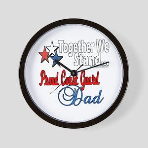 Coast Guard Father Wall Clock