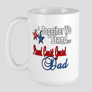 Coast Guard Father Large Mug