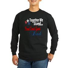 Coast Guard Father Long Sleeve Dark T-Shirt