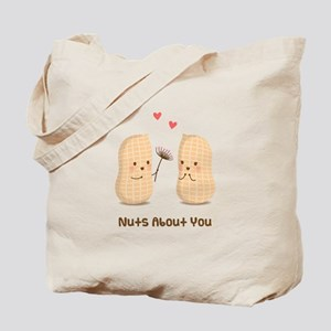 Cute Peanuts Nuts About You Love Humor Tote Bag