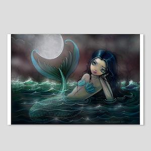 Moonlit Creek Mermaid Fantasy Art Postcards (Packa