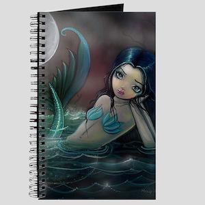 Moonlit Creek Mermaid Fantasy Art Journal