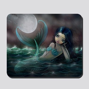 Moonlit Creek Mermaid Fantasy Art Mousepad