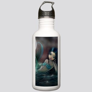 Moonlit Creek Mermaid Fantasy Art Water Bottle