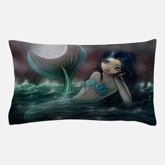Moonlit Creek Mermaid Fantasy Art Pillow Case