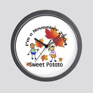 Sweet Potato Wall Clock