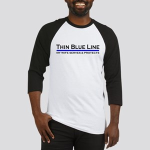 Blue Line Police Husband Baseball Jersey