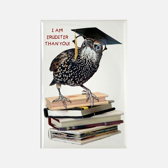 Back to School Starling Rectangle Magnet