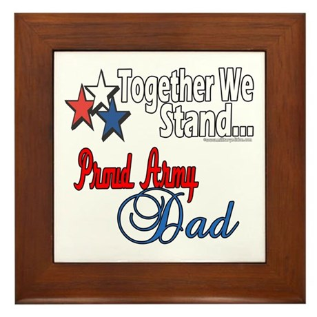 Army Father Framed Tile