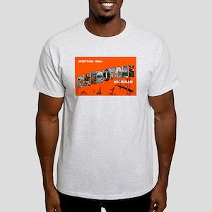 Cheboygan Michigan Greetings (Front) Light T-Shirt