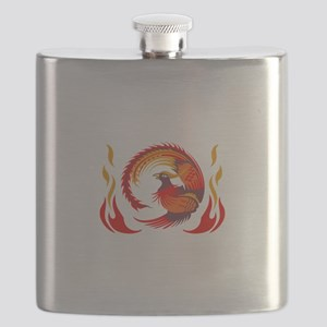 PHOENIX RISING FROM FLAMES Flask