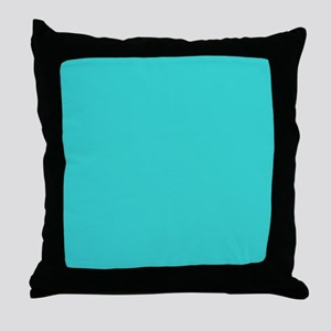 modern abstract teal Throw Pillow