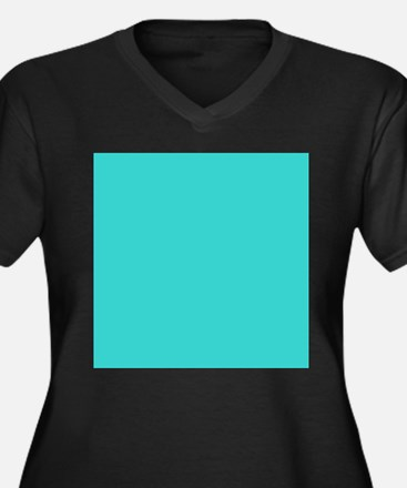 modern abstract teal Plus Size T-Shirt