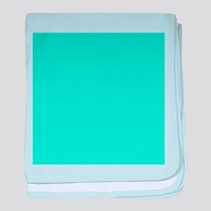 modern abstract teal baby blanket