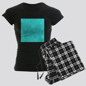 modern abstract teal Women's Dark Pajamas