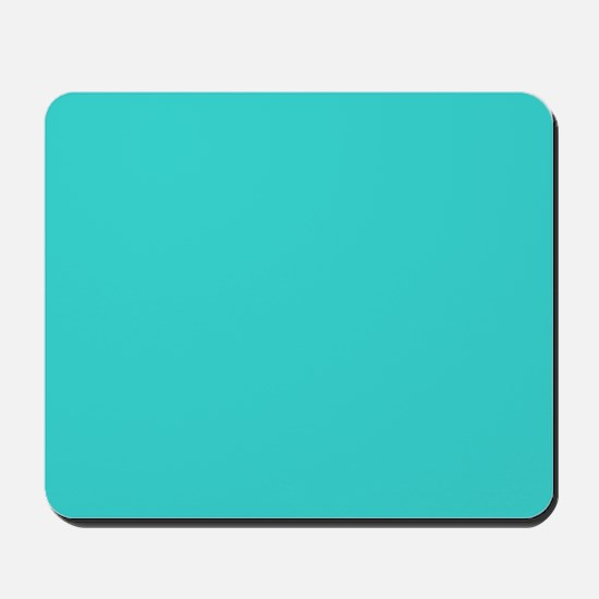 modern abstract teal Mousepad