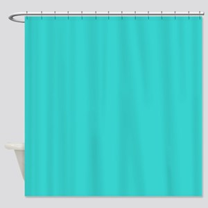 modern abstract teal Shower Curtain