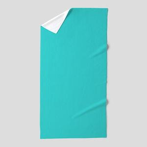 modern abstract teal Beach Towel