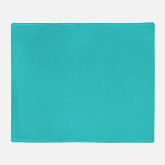 modern abstract teal Throw Blanket