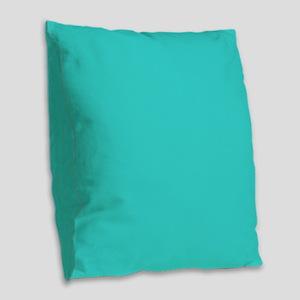 modern abstract teal Burlap Throw Pillow