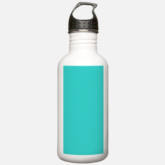 modern abstract teal Water Bottle